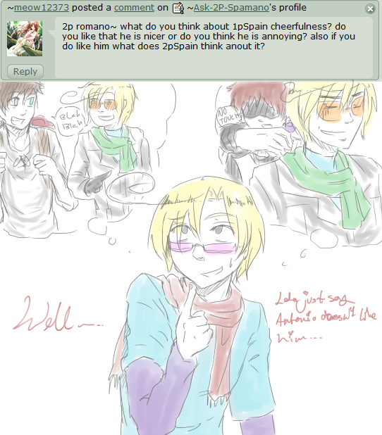Antonio doesn't like Toni... :18: by Ask-2P-Spamano