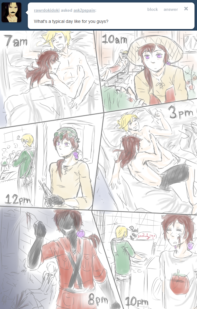 A Typical Day... :21: by Ask-2P-Spamano