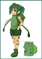 Gotta catch em all 001 Bulbasaur - Gijinka by Silver-Lunne