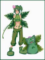 Gotta catch em all 002 Ivysaur - Gijinka by Silver-Lunne