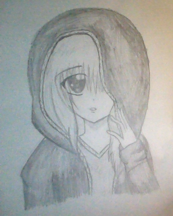 Anime Girl With Headphones And Hoodie Drawing Anime girl hoodie by    How To Draw Anime Girl With Hoodie