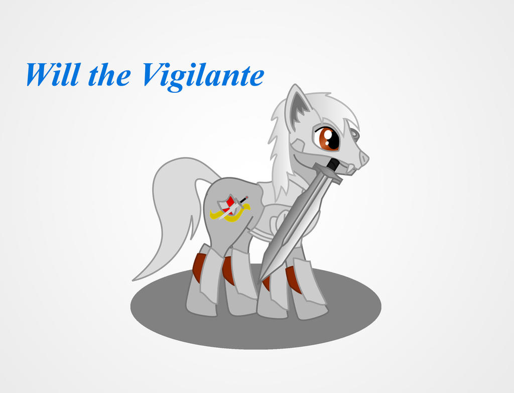 MLP Warrior Will the Vigilante by Redtriangle