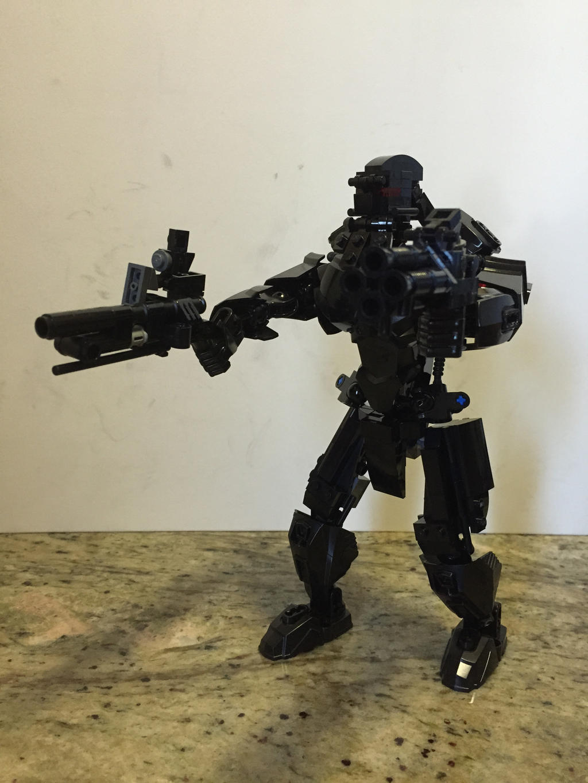 Black Hephaestus Gun Fight by Redtriangle