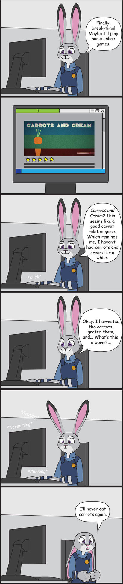 Judy Playing Carrots and Cream by Redtriangle