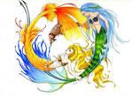 The Mermaid Yin-Yang Pup