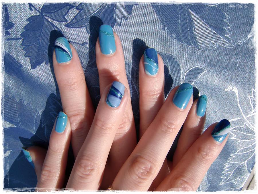 Blue Water Marble by xXLukiraXx