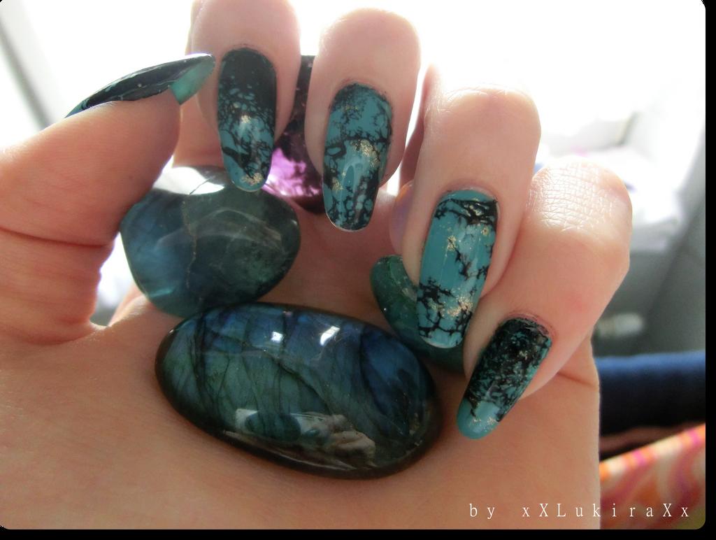 Turquoise Nail Art by xXLukiraXx