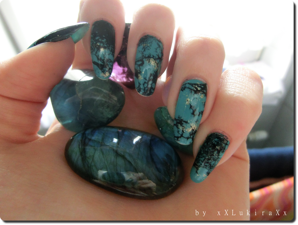 Turquoise Nail Art by xXLukiraXx on DeviantArt