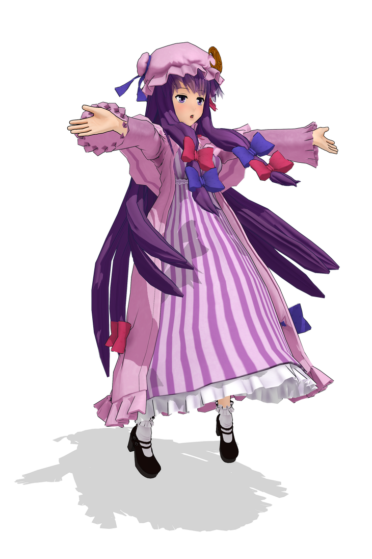 3d mmd patchouli knowledge dances to good luck 9