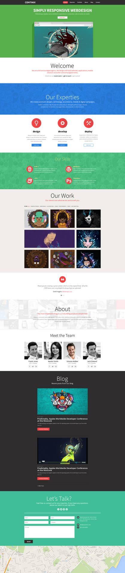 Centinix Responsive Website