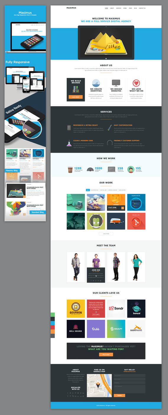 Maximus - One Page Flat Design Template