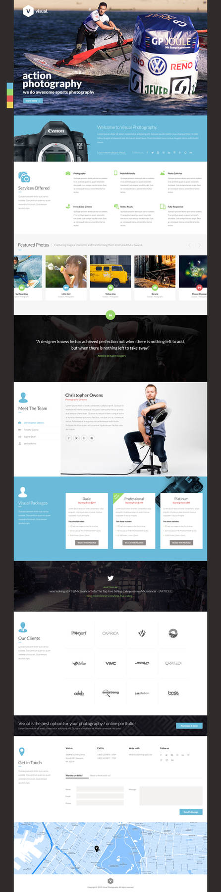 Visual One Page Design