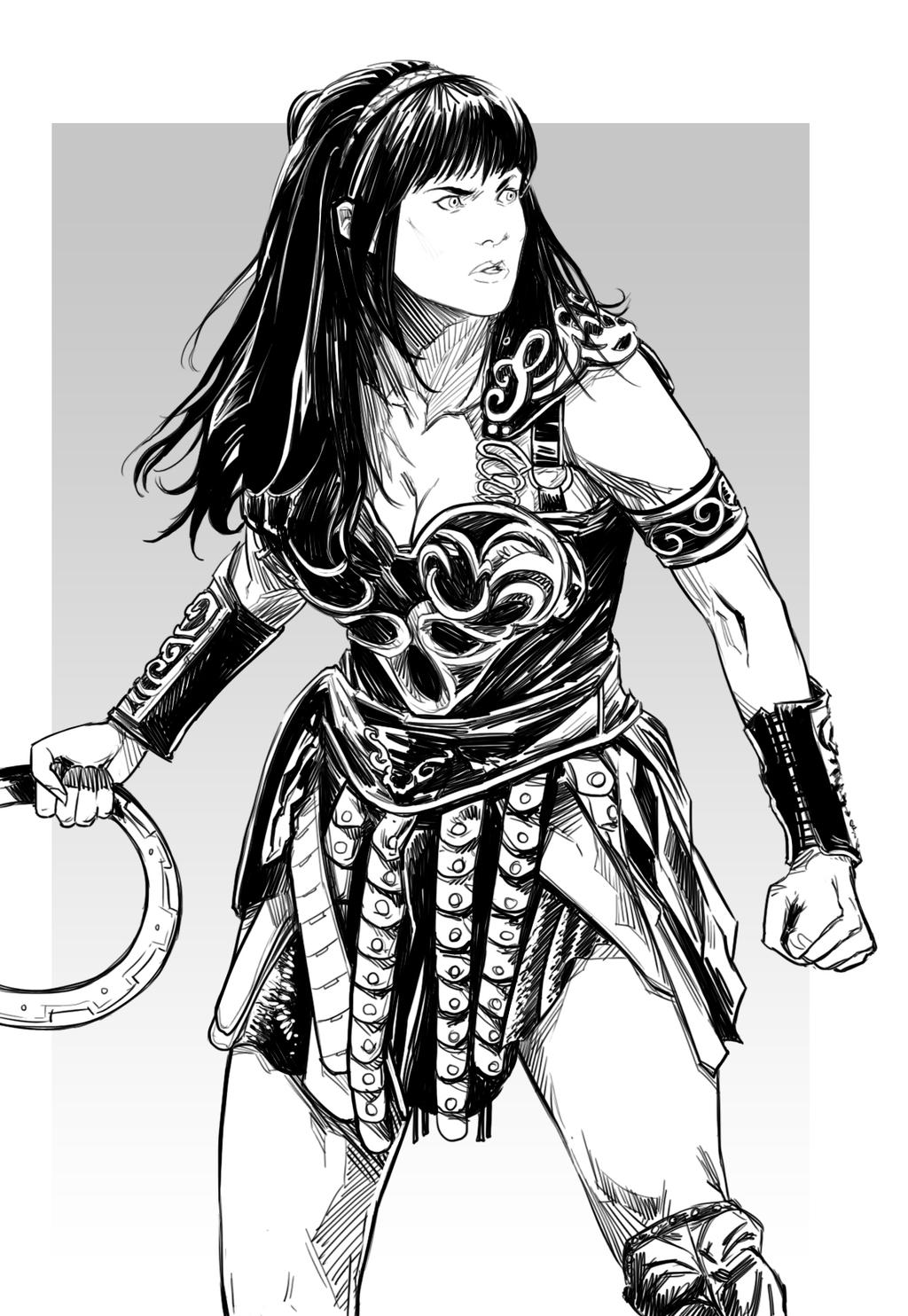 Xena by uger on deviantart Xena coloring book