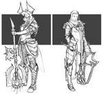 Barbarian and crusader female Diablo 3