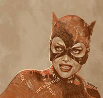 Daily Sketch08: michelle pfeiffer, Batman Returns by artandwine365