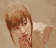 Daily Sketch 09: Hirose Suzu in Chihayafuru by artandwine365