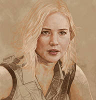Daily Sketch 10: Jennifer Lawrence In Passengers by artandwine365
