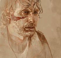 Daily Sketch 24: Rick Grimes by artandwine365