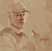 Daily Sketch 26: Wade Wilson by artandwine365
