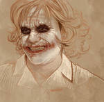 Daily Sketch 35: Heath Ledger as Joker