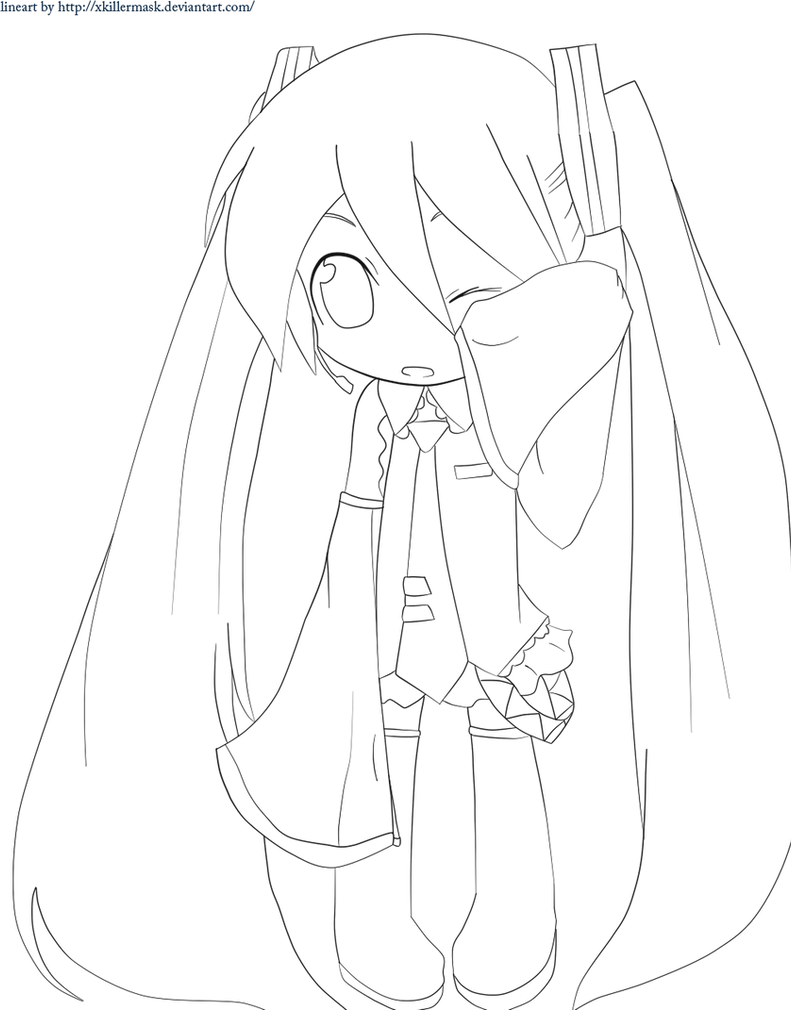 hatsune miku chibi coloring pages - photo#2