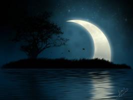 Shining Moon, Mystic Island by JJCheddar77