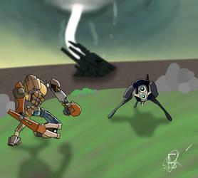 Dog vs a Hunter by Frisout