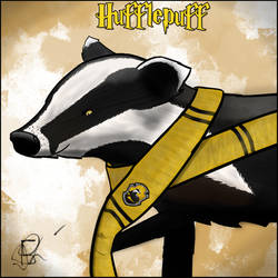 Hufflepuff Badger by Frisout