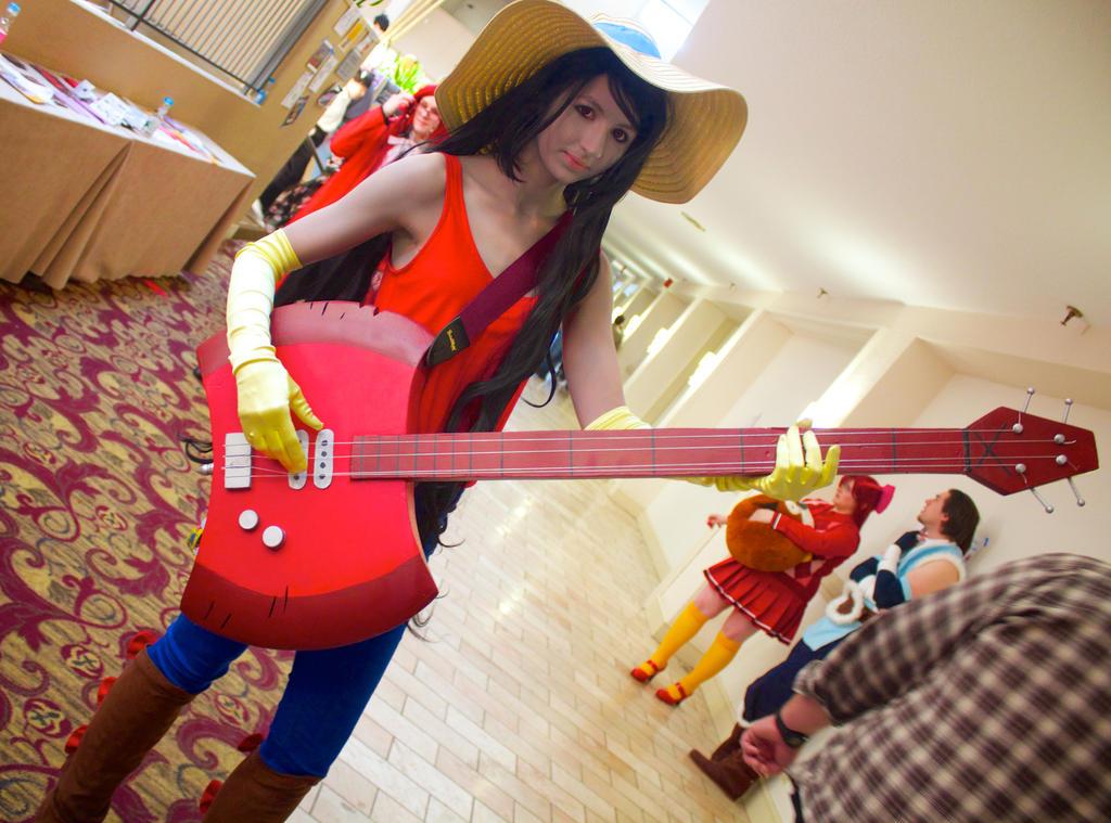 Marceline with Guitar by GrumpyCosplay