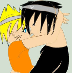 Naruto sasuke hug by narutoluverr98