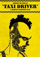 'Taxi Driver' film poster by viktorhertz