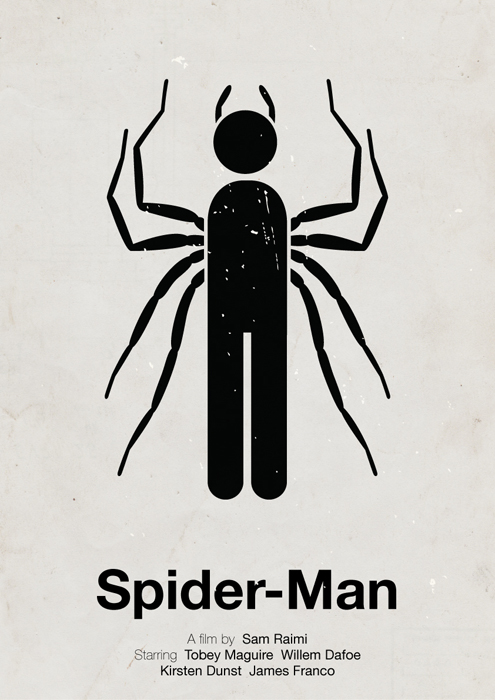 Spider-Man pictogram poster by viktorhertz