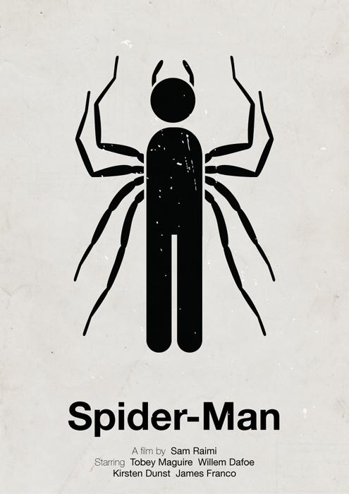 Spider-Man pictogram poster by viktorhertz