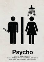 Psycho pictogram movie poster by viktorhertz