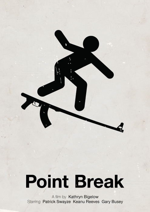 Point Break pictogram poster by viktorhertz
