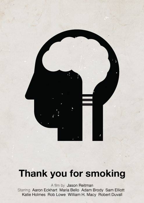 'Thank you for smoking' poster by Hertzen