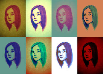 self-portrait color test by K3LCH4N