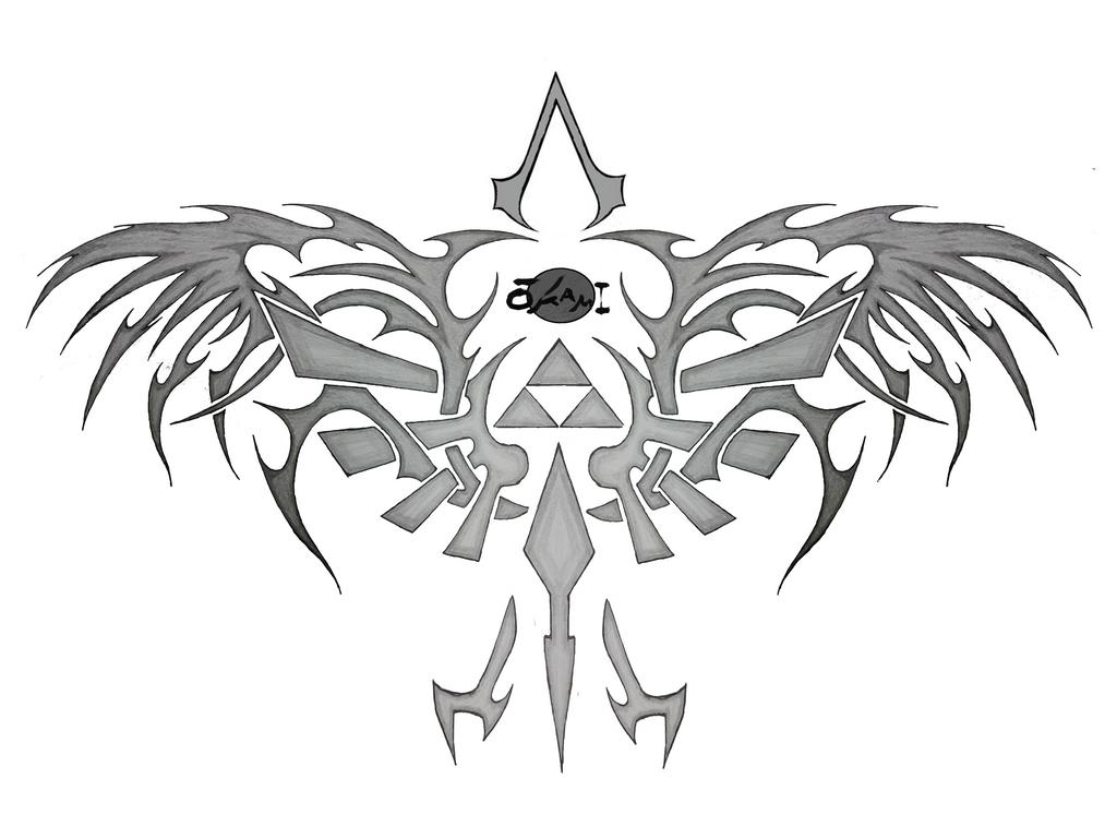 ZELDA tribal Tattoo by Shikokuookami on DeviantArt