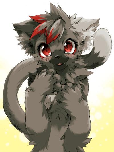 Furry wolf boy