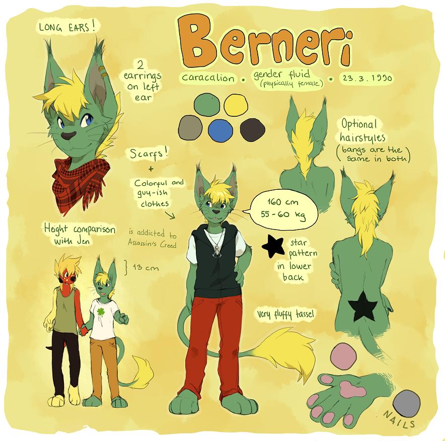 Berneri - reference sheet (GA) by Jeniak