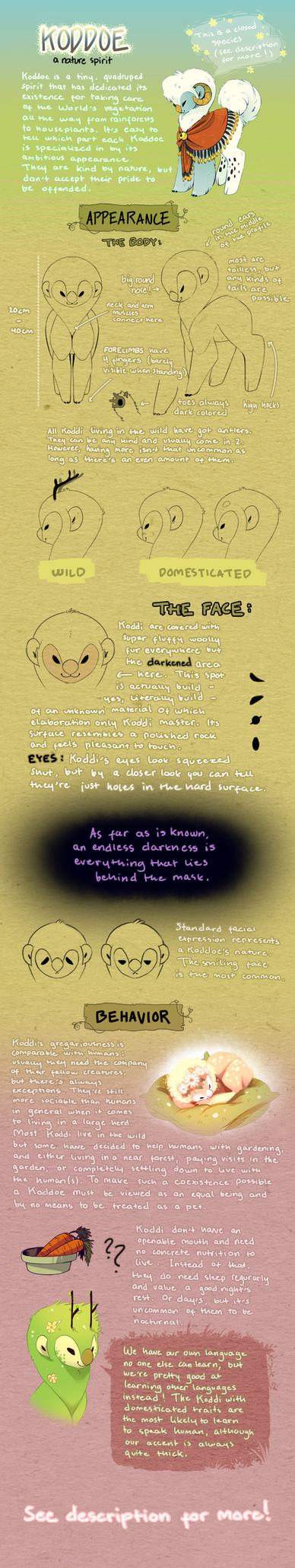 Koddoe: Species Guide by Jeniak