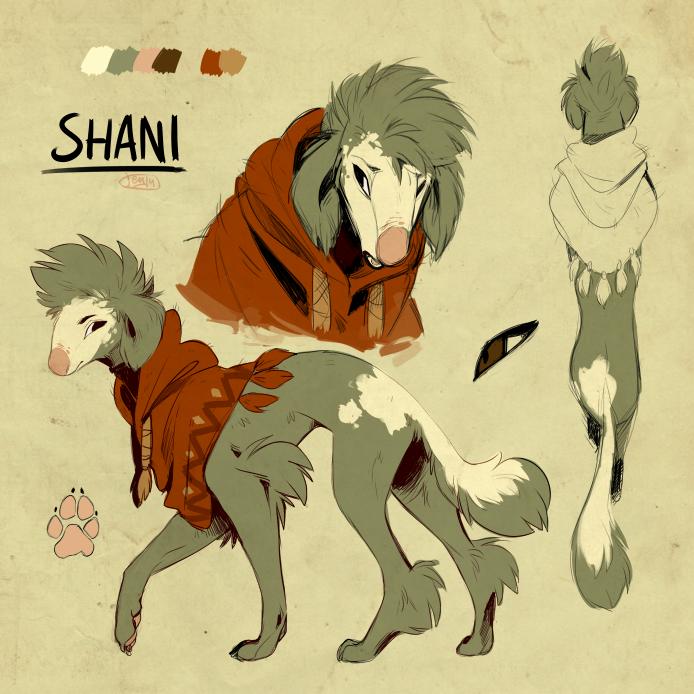 Character concept - Shani by Jeniak
