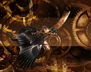 winged rat clockwork by mechanicalmasochist