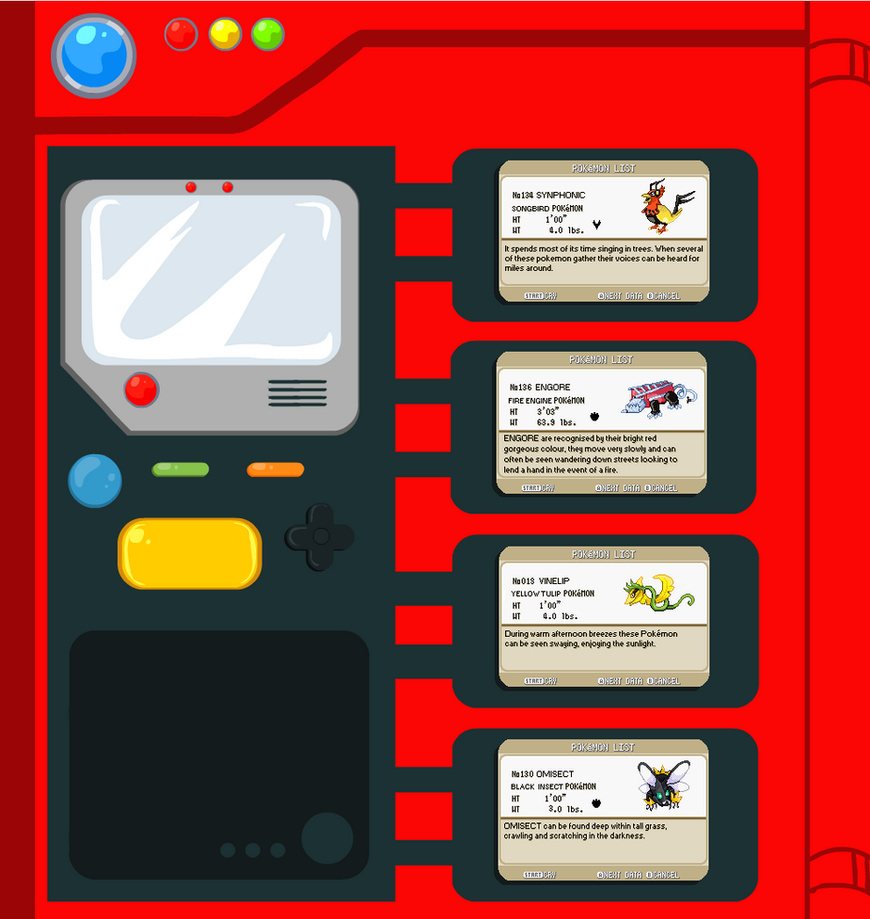 fakemon pokedex entries by mechanicalmasochist