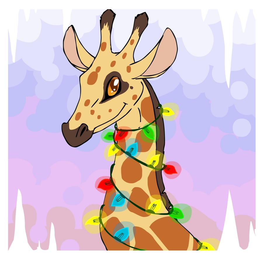 christmas giraffe by mechanicalmasochist