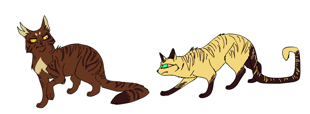 tigerclaw and longtail by mechanicalmasochist