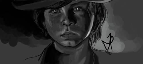 Carl Grimes - Walking Dead - Portrait by ChopSui