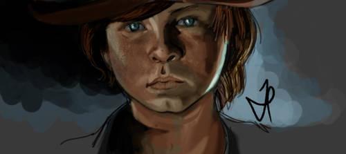 Carl Grimes - Walking Dead - Portrait - Color by ChopSui