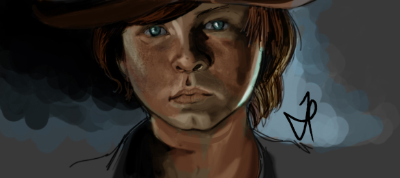 Carl Grimes - Walking Dead - Portrait - Color by ChopSui