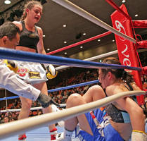 Tomomi Takano knocked down by Daniela Bermudez by freddobbs